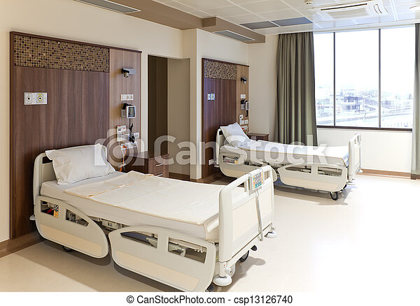 Modern empty hospital room - csp13126740