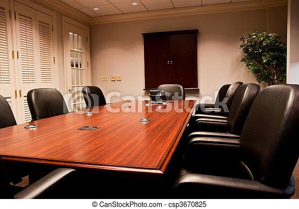 Modern Empty Meeting Room - csp3670825