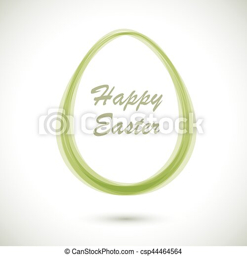 modern ester card with egg shaped frame vector template