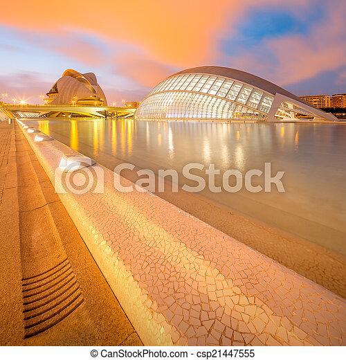 Modern european architecture, Valencia - csp21447555