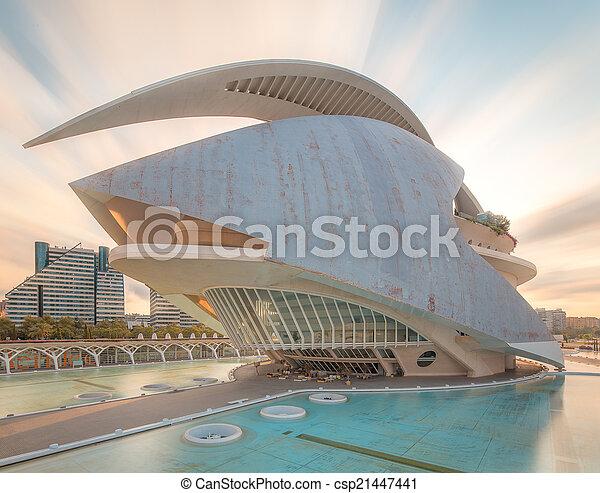 Modern european architecture, Valencia - csp21447441