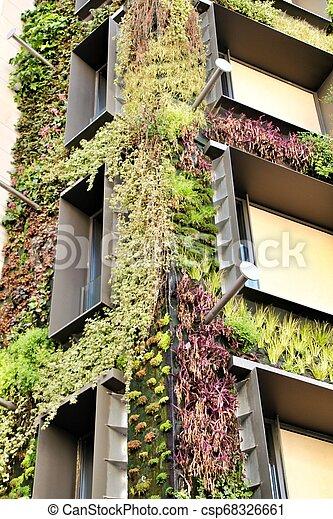 Modern Facade With Vertical Garden In Madrid Beautiful Modern