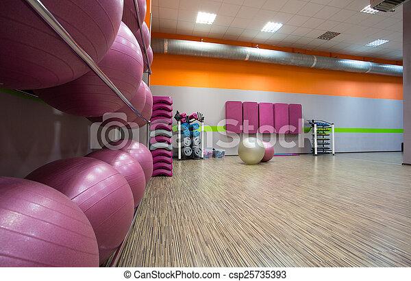 Modern fitness center - csp25735393