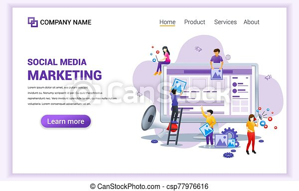 Modern Flat Design Concept Of Social Media Marketing Can Use For Banner Business Content Strategy Analysis Mobile App
