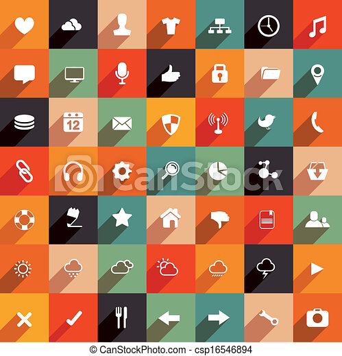 Modern Flat Icon Set - csp16546894