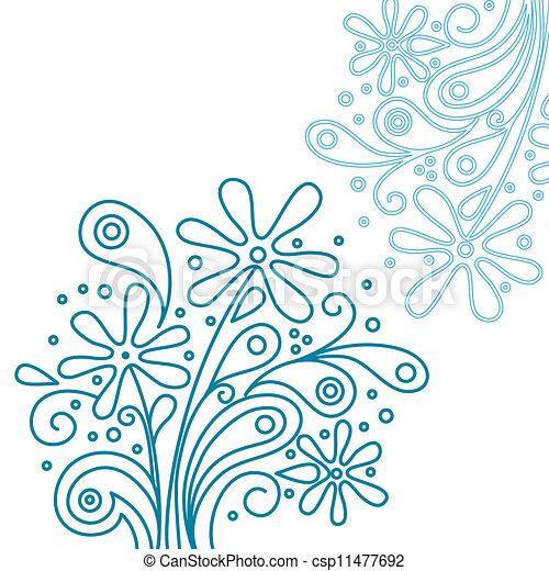 Modern Floral Background   Csp11477692