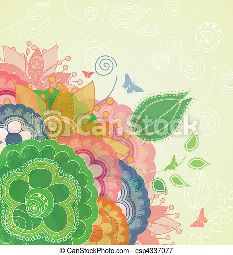 Modern Flower Background   Csp4337077