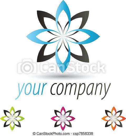 Modern Flower Logo - csp7858338