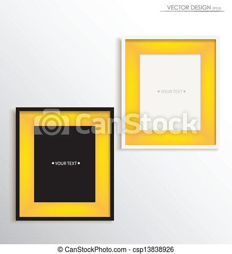 Modern frames on the wall, vector illustration. vector illustration ...
