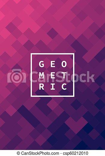 Modern futuristic abstract geometric cover