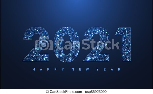 2021 Christmas Technology Modern Futuristic Technology Template For Merry Christmas And Happy New Year 2021 With Connected Lines And Dots Plexus Canstock