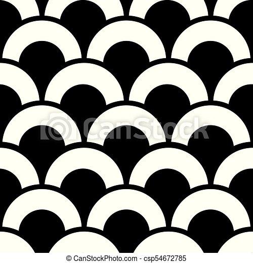 Modern Geometric Seamless Pattern Vector Repetitive Design In Black