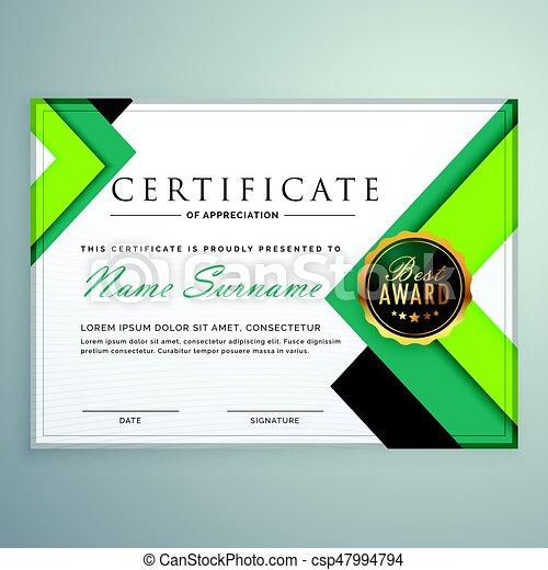 modern geometric shape certificate design template csp47994794