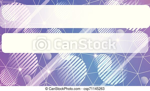 Modern geometrical abstract background with triangles, line, circle, space for text elements Template for wallpaper, interior design, decoration, scrapbooking page. Vector illustration. - csp71145263