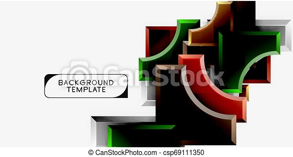 Modern geometrical abstract background - csp69111350