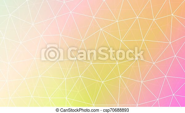 Modern geometrical abstract background with polygonal pattern with triangles elements Template for wallpaper, interior design, decoration, scrapbooking page. Vector illustration. Gradient color. - csp70688893