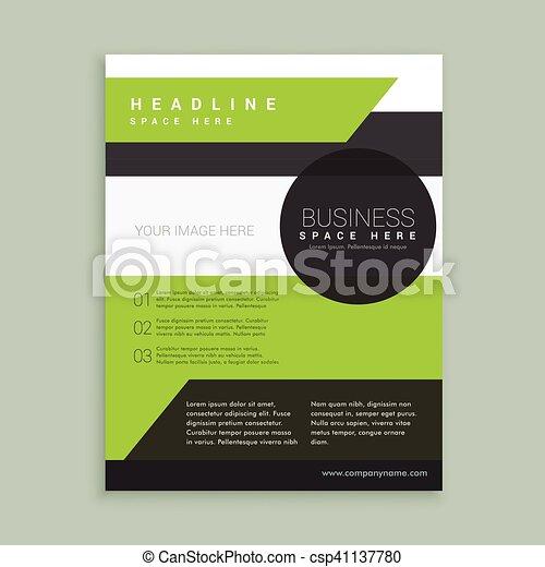 Modern Green Black Brochure Template Vector Search Clip Art
