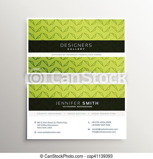 Modern green business card template modern green business card template csp41139393 wajeb Gallery