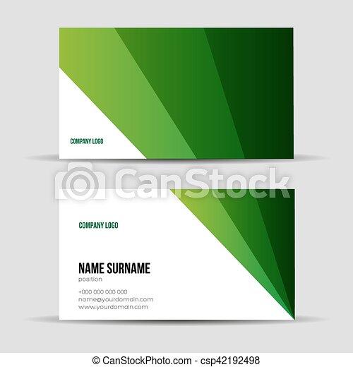 Modern green business card template modern green business card template csp42192498 flashek Image collections