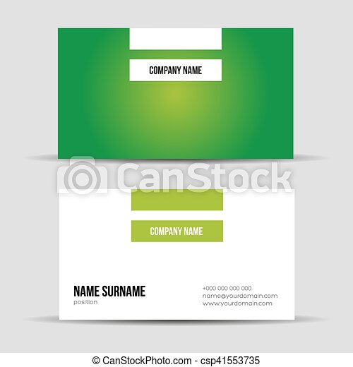 Modern green business card template vectors search clip art modern green business card template csp41553735 cheaphphosting Gallery