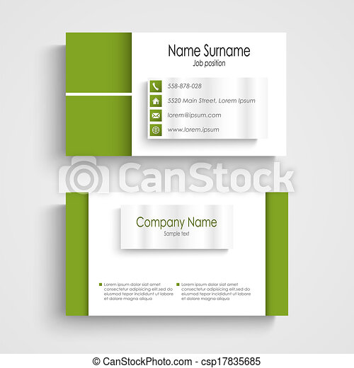 Modern green light business card template vector eps 10 modern green light business card template csp17835685 wajeb Images