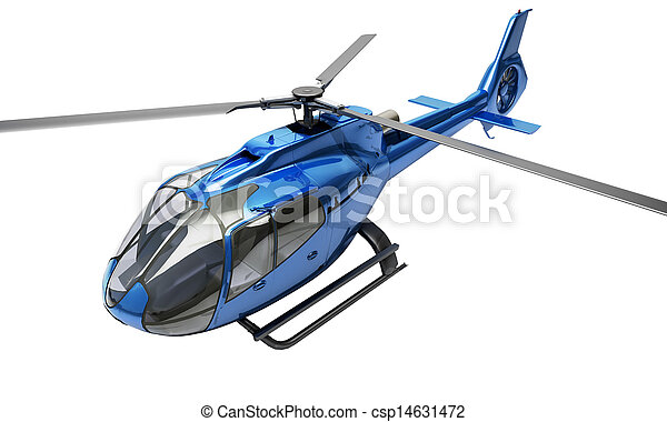 Modern helicopter isolated - csp14631472