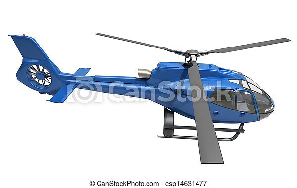 Modern helicopter isolated - csp14631477