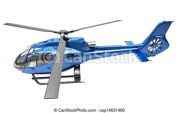 Modern helicopter isolated - csp14631480