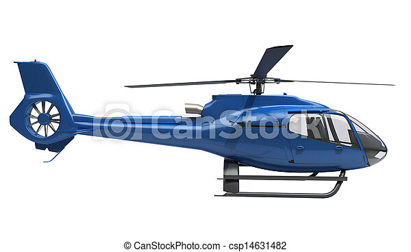 Modern helicopter isolated - csp14631482