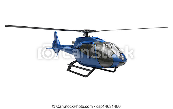 Modern helicopter isolated - csp14631486