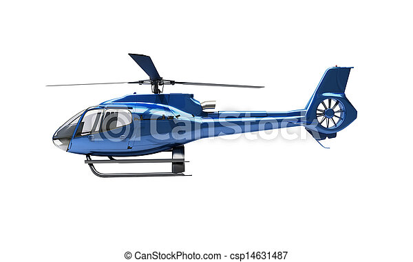 Modern helicopter isolated - csp14631487