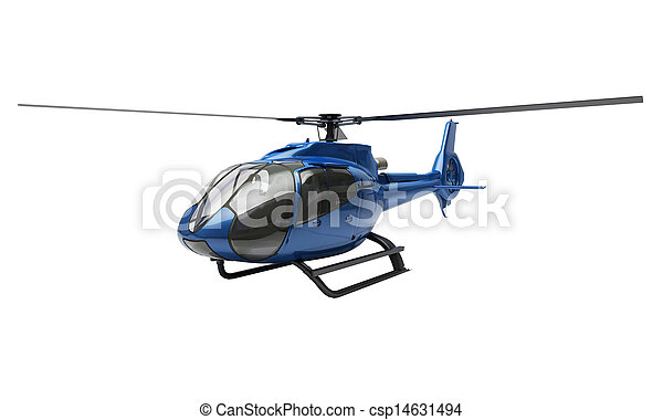 Modern helicopter isolated - csp14631494