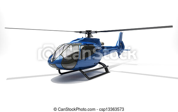Modern helicopter - csp13363573