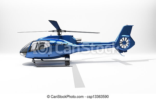 Modern helicopter - csp13363590