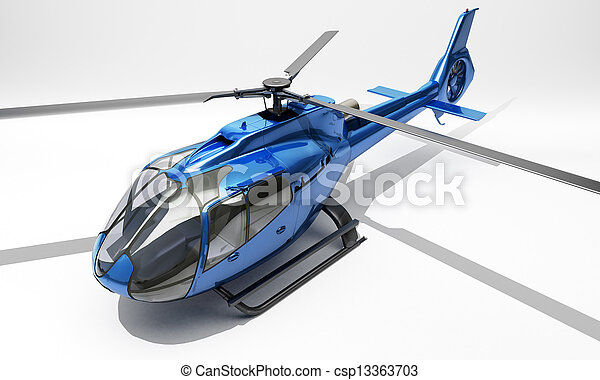 Modern helicopter - csp13363703