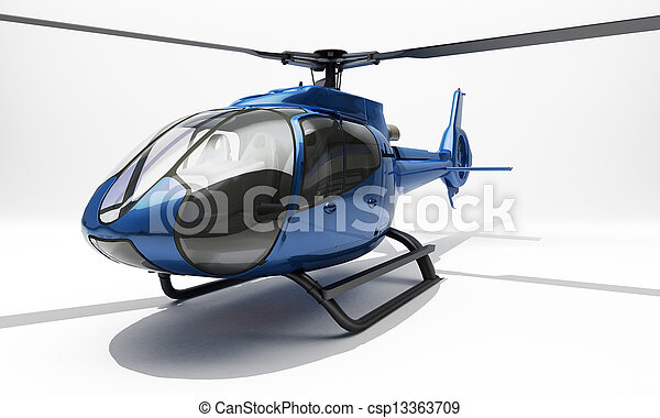 Modern helicopter - csp13363709