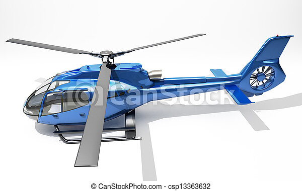 Modern helicopter - csp13363632