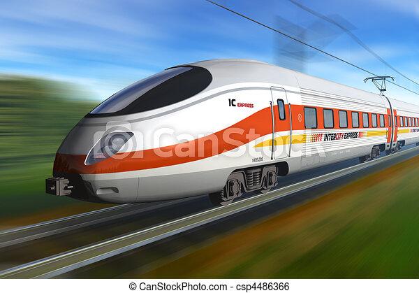 Modern high speed train - csp4486366