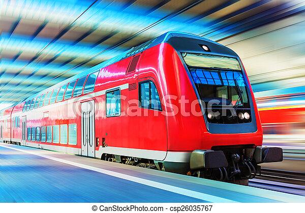 Modern high speed train - csp26035767
