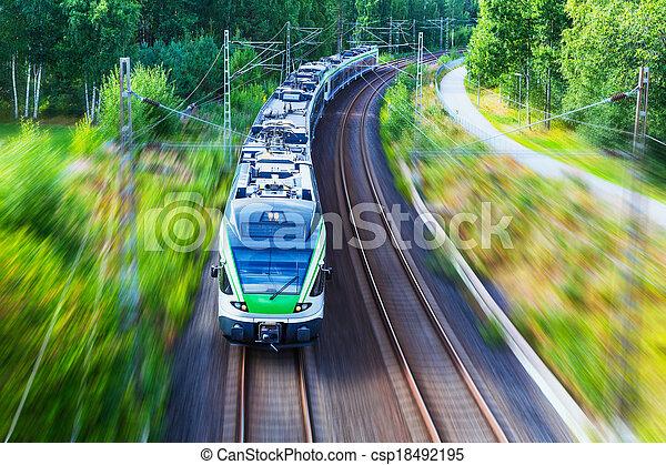Modern high speed train - csp18492195