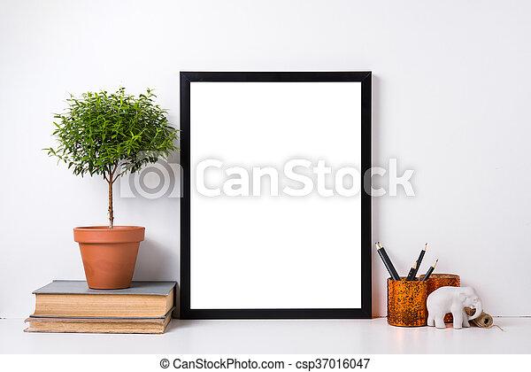 Modern home decor mock-up - csp37016047