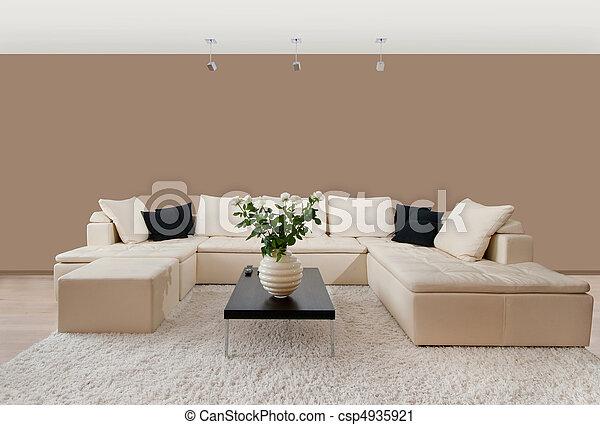 Modern home interior - csp4935921