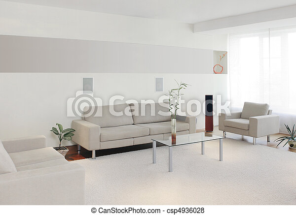 Modern home interior - csp4936028