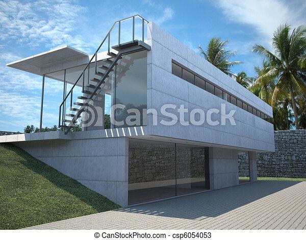 modern house exterior - csp6054053