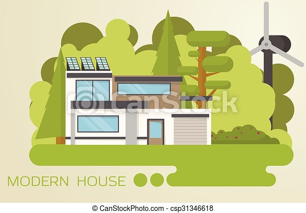 Modern house. Contemporary, eco house design in the wood with solar on modern italian home design, modern house architecture design, modern horse barn designs, modern eco-friendly prefab homes, modern mountain home designs,
