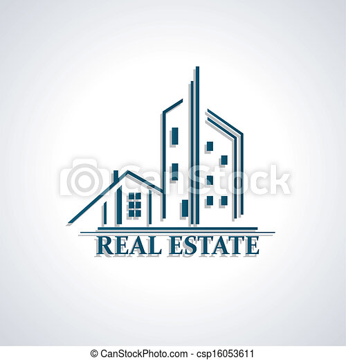Vector Clip Art of Modern icon for Real estate business design ...