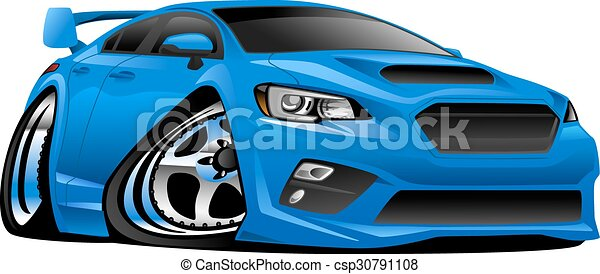 Modern Import Sports Car Illustrati - csp30791108