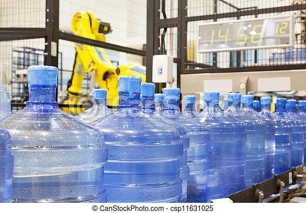 Modern industrial shop on pouring mineral water - csp11631025