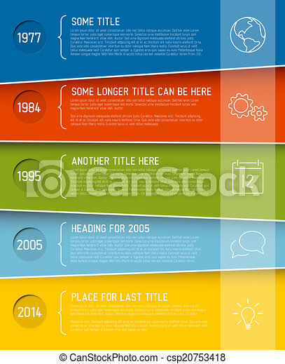 Modern infographic timeline report template