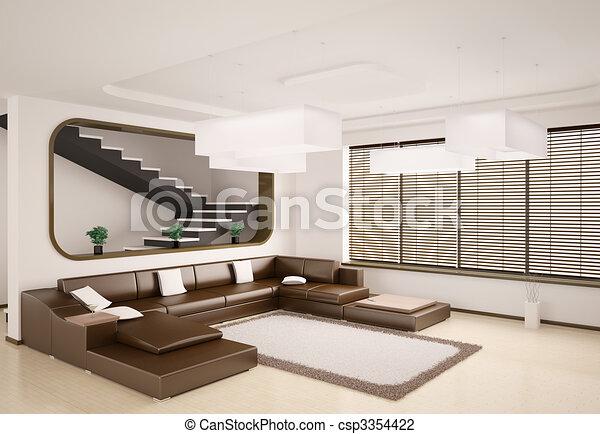 Modern interior 3d - csp3354422